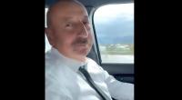 """İlham Əliyev radioda """"Ey Vətən"""" mahnısını dinlədi - VİDEO"""