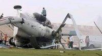 İçi pulla dolu helikopter qəzaya uğradı - FOTO