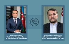 Ceyhun Bayramovla iranlı həmkarı arasında TELEFON DANIŞIĞI