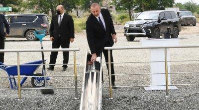 Prezident Daşaltıda tunelin təməlini qoydu - YENİLƏNİB - FOTO