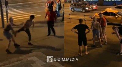 """Moskvada """"skinxed""""lərin davası - VİDEO"""
