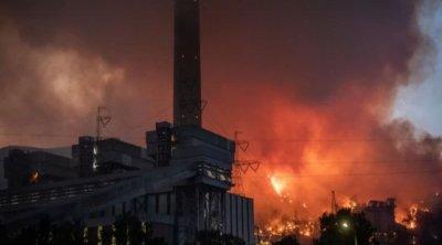 Kemerköy İstilik Elektrik Stansiyasının ərazisindəki yanğın söndürüldü