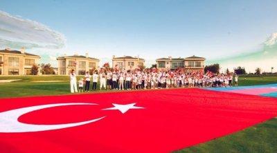 """Qəhrəman övladları """"Türkiyəm, səninləyik!"""" dedilər – VİDEO-FOTO"""