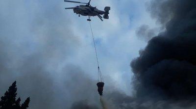 Ağsuda yanğının söndürülməsinə helikopter cəlb olundu