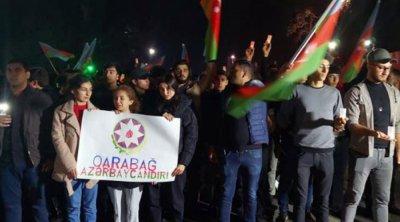 Gəncədə erməni terrorunun qurbanlarının xatirəsi anıldı - FOTO