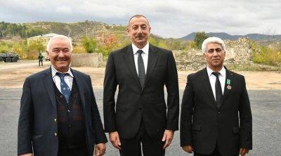 Prezident Şəhriyar Məmmədyarovun atası ilə GÖRÜŞDÜ - VİDEO