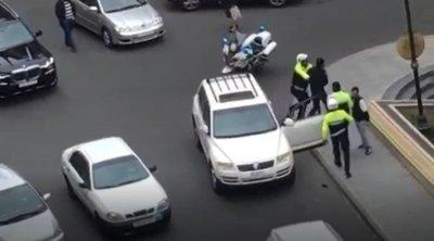 Bakını bir-birinə qatan sürücü həbs edildi - VİDEO