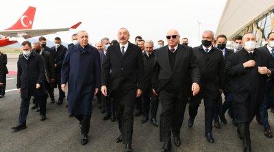 İlham Əliyevlə Ərdoğan Füzuli hava limanının açılışında – FOTO/VİDEO