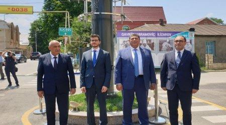 Qubada yəhudi əsilli alimə abidə ucaldıldı