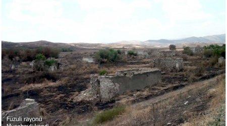 Ermənilərin viran qoyduğu daha bir kəndimizin görüntüləri YAYILDI - VİDEO