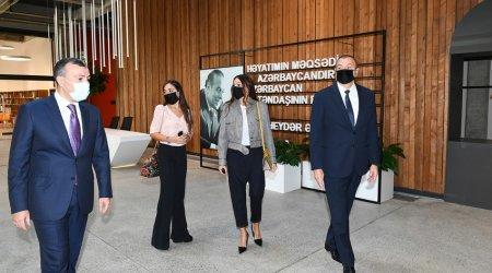 Prezident və ailəsi DOST Yaradıcılıq Mərkəzinin açılışında iştirak etdi - FOTO-VİDEO